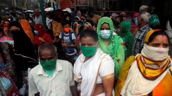 Nisarga Kasırgası - Hindistan  - maske - koronavirüs - Sputnik Türkiye