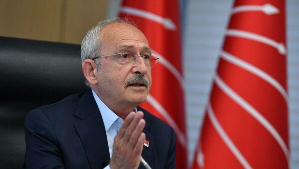 CHP Genel Başkanı Kemal Kılıçdaroğlu, CHP il başkanlarıyla video konferans yöntemiyle görüştü. - Sputnik Türkiye