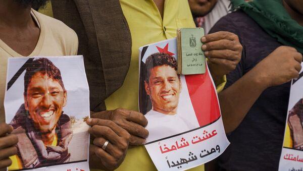Yemen'de binlerce kişi Ruptly muhabiri Nebil Hasan el-Kaiti'yi son yolculuğuna uğurladı - Sputnik Türkiye