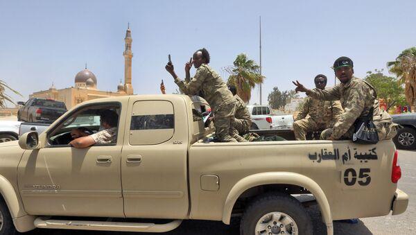 Libya Uulsal Mutabakat Hükümeti'ne bağlı askerler - Sputnik Türkiye