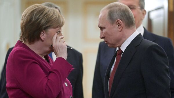 Putin - Merkel - Sputnik Türkiye