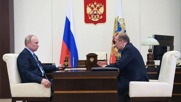 Rusya Devlet Başkanı Vladimir Putin - FSB Başkanı Bortnikov  - Sputnik Türkiye