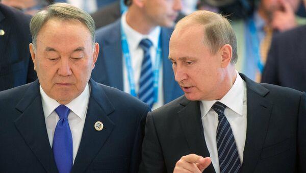 Nursultan Nazarbayev-Vladimir Putin - Sputnik Türkiye