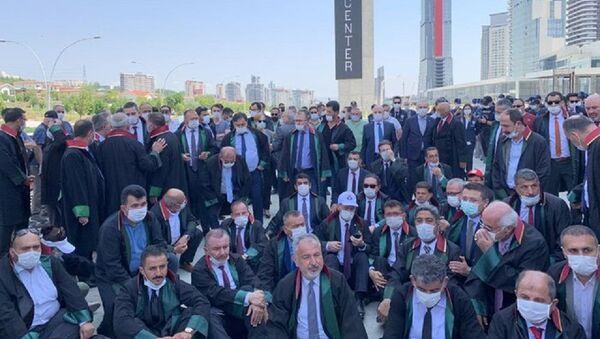Baro başkanları, Ankara, yürüyüş - Sputnik Türkiye