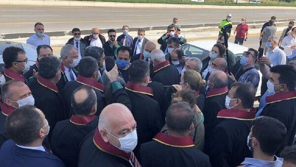 Baro başkanları, yürüyüş, polis engeli - Sputnik Türkiye
