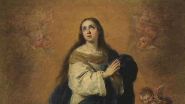Bartolomé Esteban Murillo adlı sanatçıya ait ünlü 'Immaculate Conception' (Meryem'in kusursuz gebeliği) adlı tablo - Sputnik Türkiye