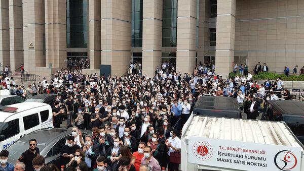 Avukatlardan İstanbul Adalet Sarayı'nda eylem - Sputnik Türkiye