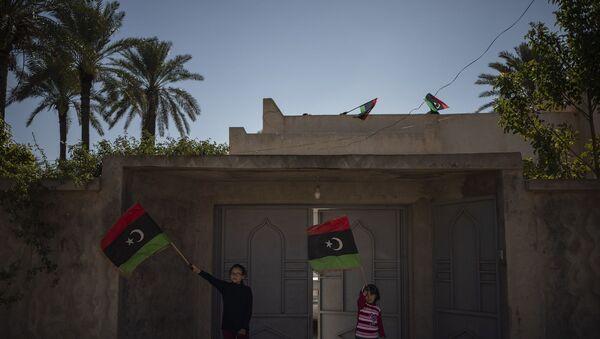 Libya bayrağı - Trablus - çocuk - Sputnik Türkiye