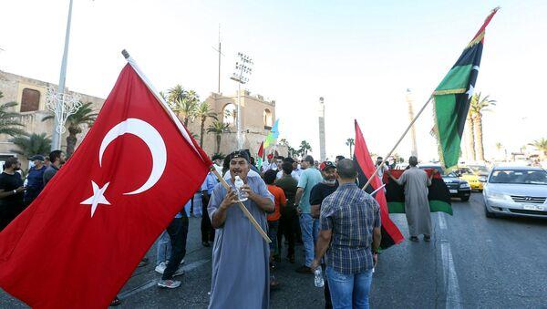 Libya Bayrağı – Türkiye bayrağı - Trablus - Sputnik Türkiye