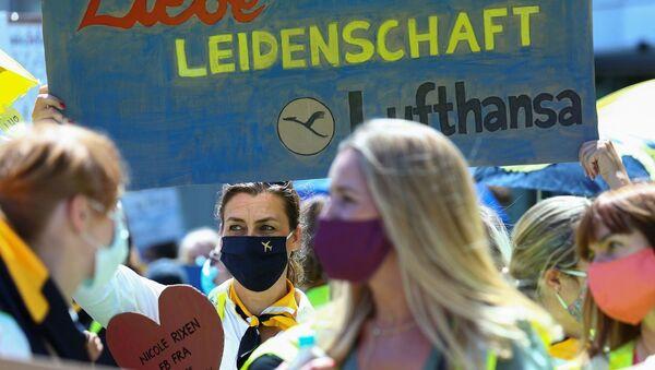 Lufthansa çalışanları, protesto - Sputnik Türkiye