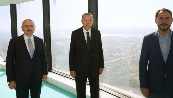 Cumhurbaşkanı Erdoğan Çamlıca Kulesi'ni inceledi - Sputnik Türkiye