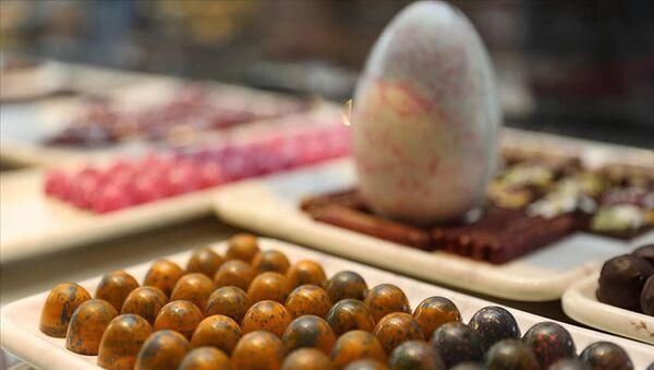 Türkiye'nin en tatlı projesi olarak nitelendirilen Çikolata Park Projesi'nde çikolata üretimi ve satışına başlandı. - Sputnik Türkiye