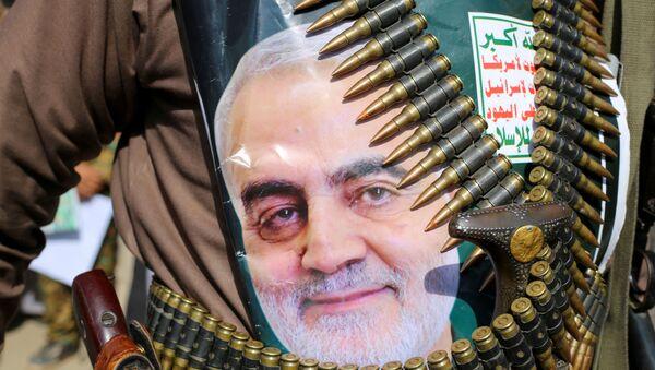 İran Devrim Muhafızları Ordusu'na bağlı Kudüs Gücü Komutanı Kasım Süleymani - Sputnik Türkiye