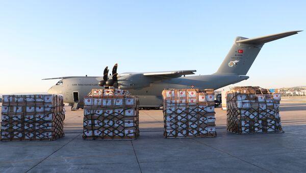 Irak'a tıbbi yardım malzemesi taşıyan uçak hareket etti - Sputnik Türkiye