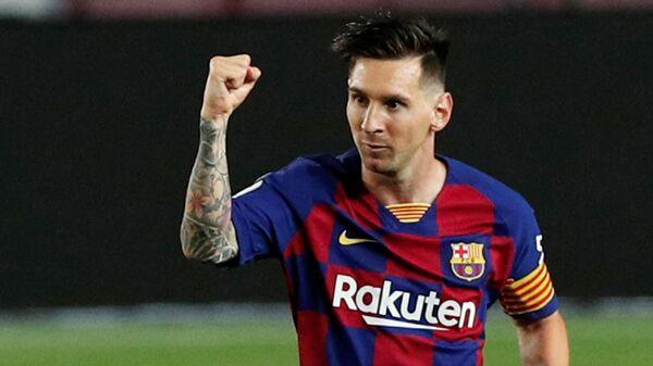 Lionel Messi, Barcelona-Atletico Madrid maçı-700. gol - Sputnik Türkiye