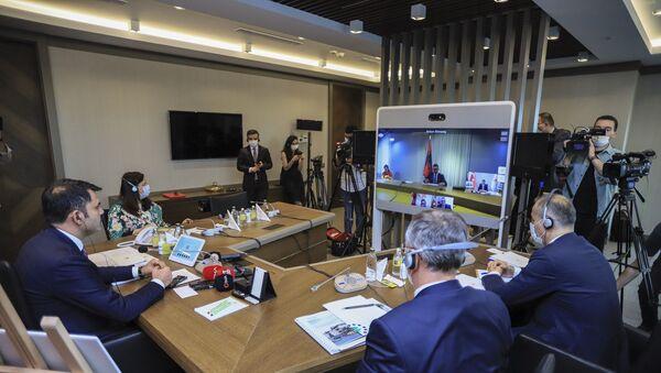 Türkiye ile Arnavutluk arasında Laç şehrine yapılacak olan 522 konut, 37 ticari ünite ile 375 araçlık kapalı otoparkın inşaat çalışmalarını kapsayan bir mutabakat imzalandı. - Sputnik Türkiye