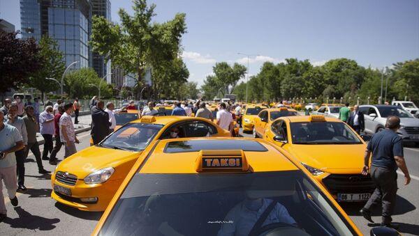 Ankara, taksici, protesto - Sputnik Türkiye