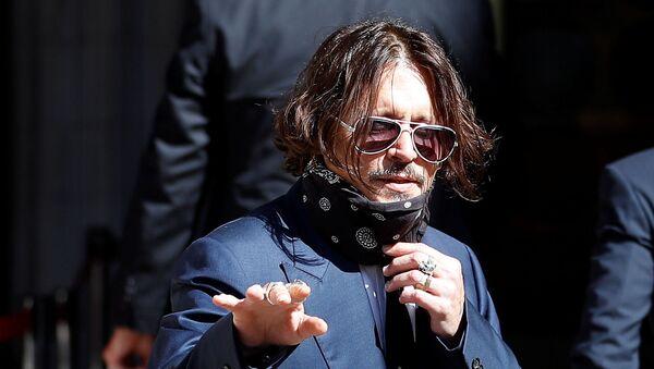 Actor Johnny Depp arrives at the High Court in London, Britain July 7, 2020. REUTERS/Peter Nicholls - Sputnik Türkiye